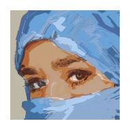 Muslim woman v3 - colour (Artist: Shaw, Rod)