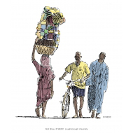 Woman carrying a heavy load - colour (Artist: Shaw, Rod)