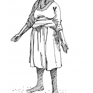 Woman pointing (Artist: Shaw, Rod)
