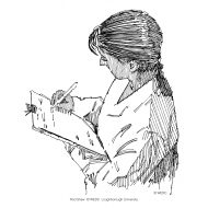 Woman with a clipboard (Artist: Shaw, Rod)