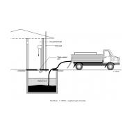 Emptying a vault latrine (Artist: Shaw, Rod)