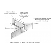 Timber support systems for deep trench latrines 1 (Artist: Shaw, Rod)