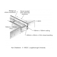 Timber support systems for deep trench latrines 3 (Artist: Shaw, Rod)