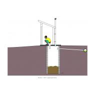 Sanitation ladder - Aqua-privy to sewer (Artist: Shaw, Rod)
