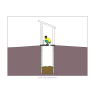 Sanitation ladder - Concrete slab and pit lining (Artist: Shaw, Rod)