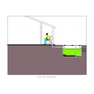 Sanitation ladder - Flush toilet to septic tank (Artist: Shaw, Rod)