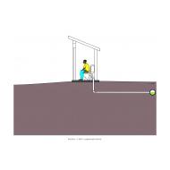 Sanitation ladder - Flush toilet to sewer pit removed (Artist: Shaw, Rod)