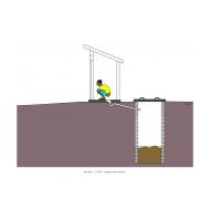 Sanitation ladder - Off-set pour-flush (Artist: Shaw, Rod)