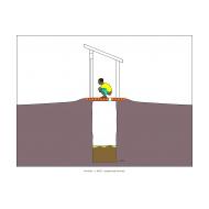 Sanitation ladder - Slab covered in mud (Artist: Shaw, Rod)