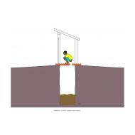Sanitation ladder - Slab made of logs (Artist: Shaw, Rod)