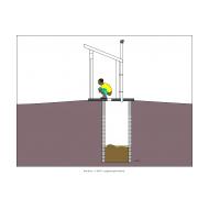 Sanitation ladder - VIP Latrine (Artist: Shaw, Rod)
