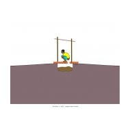 Simple pit latrine - shallow pit (Artist: Shaw, Rod)