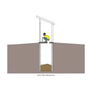 Simple pit latrine v2 - colour (Artist: Shaw, Rod)