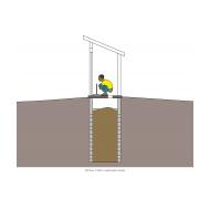 Simple pit latrine v3 - colour (Artist: Shaw, Rod)