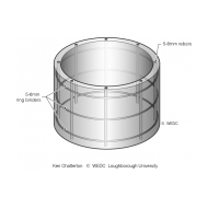Pre-cast concrete ring pit liner isometric (Artist: Shaw, Rod)