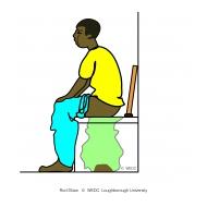 Man defecating - plastic bag (Artist: Shaw, Rod)