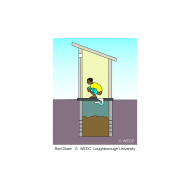 Direct pour-flush latrine fs  - colour (Artist: Shaw, Rod)