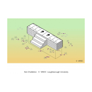 Raised block latrine isometric without lid (Artist: Shaw, Rod)