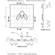 Reinforced concrete latrine slab sections (Artist: Shaw, Rod)