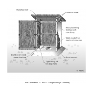 Low-cost latrine superstructure (Artist: Shaw, Rod)