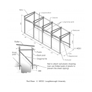 Timber-frame for trench latrine superstructure-drawing (Artist: Shaw, Rod)