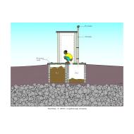 Twin-pit latrine v1 - colour (Artist: Shaw, Rod)