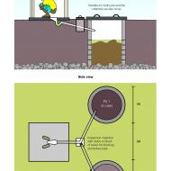 Twin-pit pour-flush latrine - colour (Artist: Shaw, Rod)