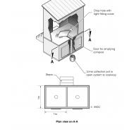 Double-vault urine-diverting latrine (Artist: Shaw, Rod)