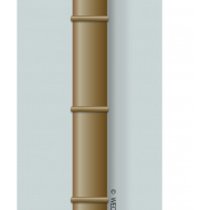 Bamboo as a vent pipe - colour (Artist: Shaw, Rod)
