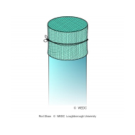 PVC pipe with netting - tied - colour (Artist: Shaw, Rod)
