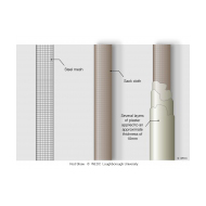 Using steel mesh for a vent pipe - colour (Artist: Shaw, Rod)