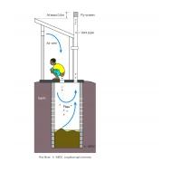 VIP latrine-5 - colour (Artist: Shaw, Rod)